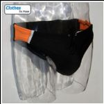 Swim Brief - Orange Black Sport - 5cm Side